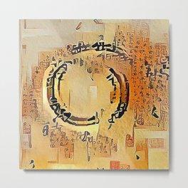 Enso Calligraphy Metal Print