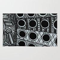 dalek Area & Throw Rugs featuring Dalek by Rebecca Bear