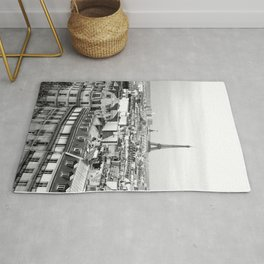 Paris Rooftops and the Eiffel Tower Rug