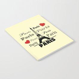 Paris text design illustration 2 Notebook