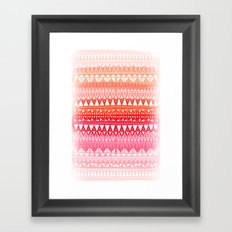 Triangle Gradient Pink Mix Framed Art Print