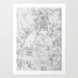 Mad Dawgz Art Print