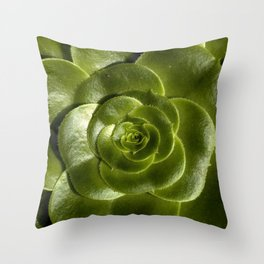 Green leave Throw Pillow