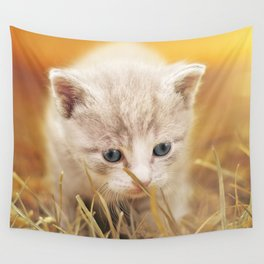 Kitten | Chaton Wall Tapestry
