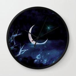 Moon Scene Wall Clock