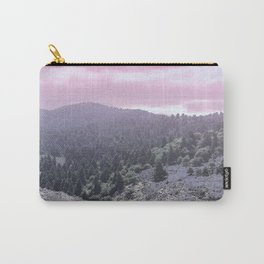 Pink Sunset on Mountains Carry-All Pouch