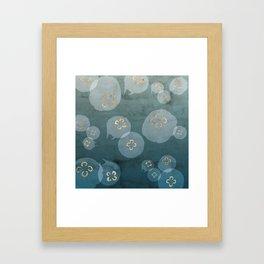 Petrol Blue Jellies Framed Art Print
