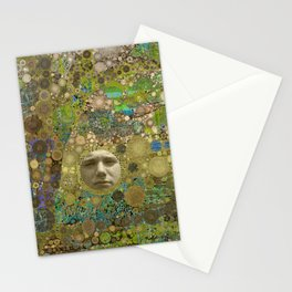Into the Woods Abstract Art Collage Stationery Cards