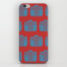 I Still Shoot Film Holga Logo - Red & Blue iPhone & iPod Skin