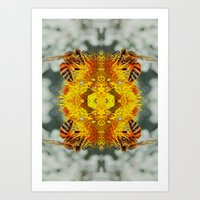 bees Art Prints featuring bees by Abraham Cervantes