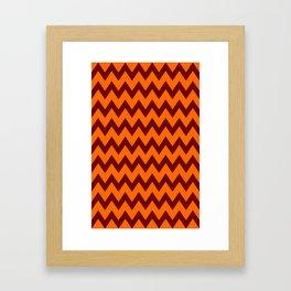 Hokie Chevron Framed Art Print