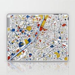 Paris Mondrian Map Art Laptop & iPad Skin