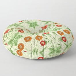 Daisy by William Morris 1862, Print Vintage Pattern CC0 Spring Summer Floor Pillow