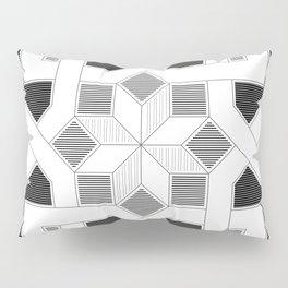 Oriental Pattern - Geometric Design - lines Pillow Sham
