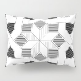 Oriental Pattern - Geometric Design - lines Pillow Sham