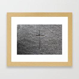 Holy Cross - Iona Abbey - Isle of Iona - Scotland Framed Art Print