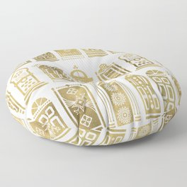 Moroccan Doors – Gold Palette Floor Pillow