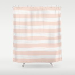 Blush Gross Stripes No.3 Shower Curtain