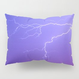 Purple Sky and White Lightening Pillow Sham