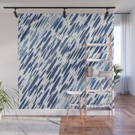 Boho Blue Brushstroke Wall Mural