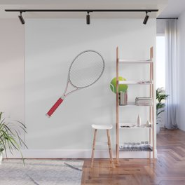 Tennis Ball and Racket Wall Mural