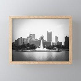 B&W Pittsburgh Framed Mini Art Print