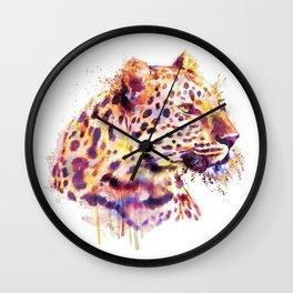Leopard Head Wall Clock