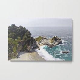 California Waterfall on the Beach Metal Print