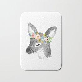 Floral Deer Bath Mat
