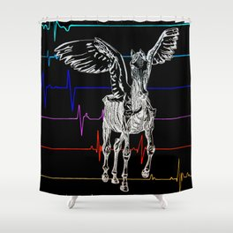 Pegasus Flatlining 2 Shower Curtain