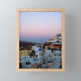 Dawn of Santorini Greece Framed Mini Art Print