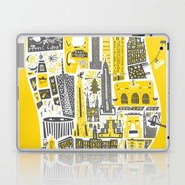 Manhattan New York Map Laptop & iPad Skin
