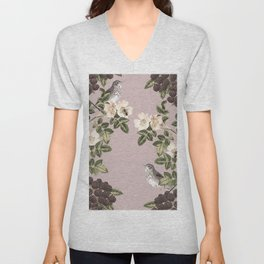 Birds and the Bees Pink Berry Unisex V-Neck