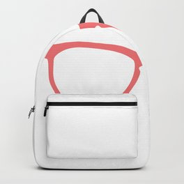 You need a pair of glasses saying Backpack