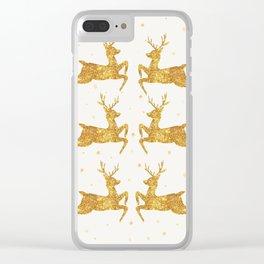 Golden Deers Clear iPhone Case