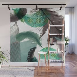 Feathers Art No.2 Wall Mural