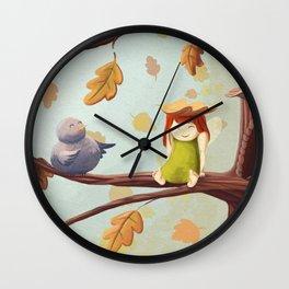 Leafed Wall Clock