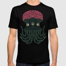 Octopus Brains Mens Fitted Tee Black MEDIUM