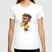 neymar T-shirts featuring Minirobguns Neymar by Robin Gundersen
