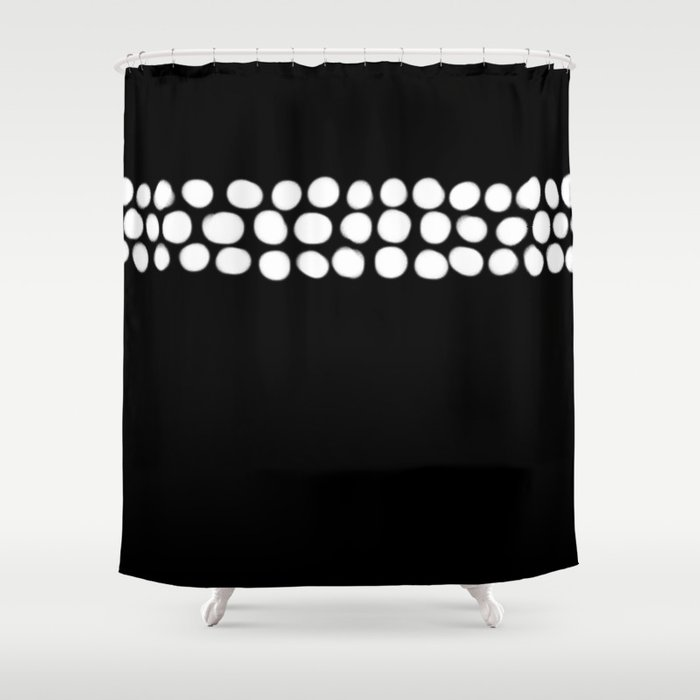 Little White Pebbles Shower Curtain