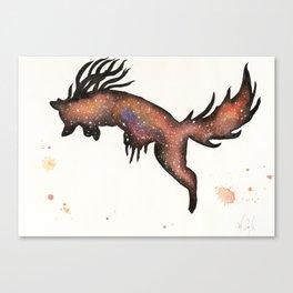 Red Nebula Fox Canvas Print