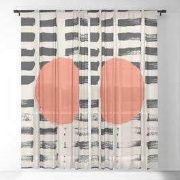 Mid Century Modern Art Print, SUN Art, Extra Large Wall Art, Mid Century Print, CIRCLE Print, Modern Sheer Curtain