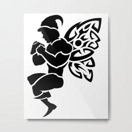 Male Fire Fairy Metal Print