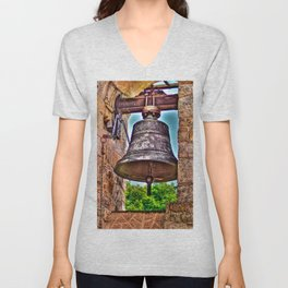 The Bell Tower Antique Stone Arches Unisex V-Neck