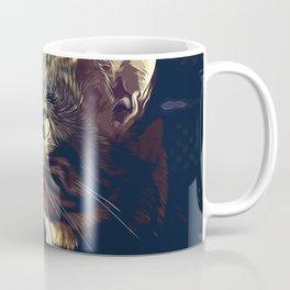 bengal cat yearns for freedom vector art foggy night Coffee Mug