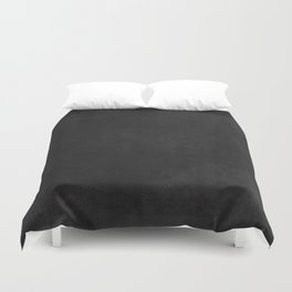 Simple Chalkboard background- black - Autum World Duvet Cover