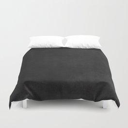 Simple Chalkboard background- black - Autum World Duvet Cover