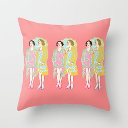 Rose Delaunay Throw Pillow