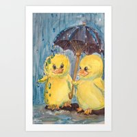 ducks Art Prints featuring Ducks by Corinne Fallone