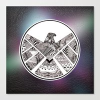 shield Canvas Prints featuring SHIELD by Ruth Ms